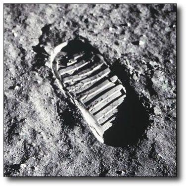 Las primeras huellas de la Luna permaneceran intactas siempre
