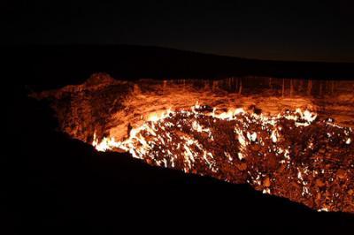 La puerta del infierno (el cráter de Darvaza)