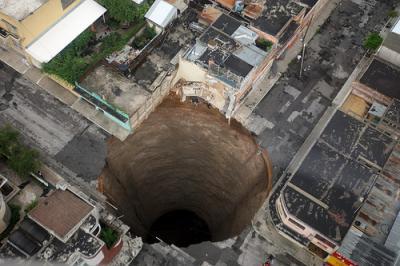 El gran cráter guatemalteco